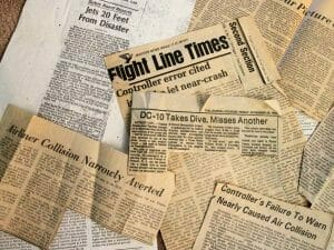 Newspaper clippings.