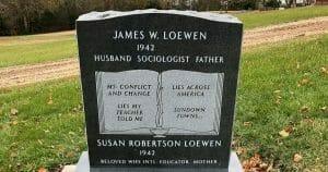 Loewen's grave marker.